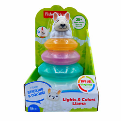 Fisher-price Linkimals Lights And Colors Llama Stacking Kids Toddlers Game Toys