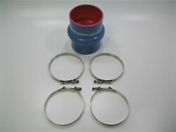 Trident 272v6000ss Vht Silicone 6 Single Hump Wet Exhaust Bellow Hose W Clamps