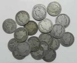 Roll Of 20 90 Silver Barber Half Dollars Mixed Dates And Mints 5