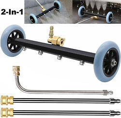16 Pressure Power Washer Undercarriage Under Car Cleaner 4000 Psi Water Broom