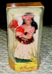 Dashboard Hula Dancer New In Box Grass Skirt 4 1/2 To 5 Inches Tall