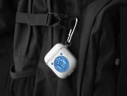 Tardis Doctor Who Sci-fi Case For Airpods 1/2/pro Keychain Tpu Keyring