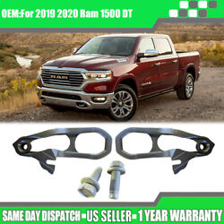 For 19-20 Dodge Ram 1500 Front Black Tow Hooks Left + Right With Hardware