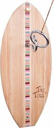 Tiki Toss Hook And Ring Toss Game - Multicolor Surf Edition - Indoor Outdoor