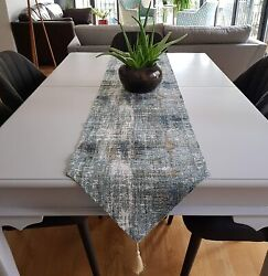 Secret Sea Collection Table Runners Upholstery Fabric 90and039and039 X 14and039and039 Wall Blue