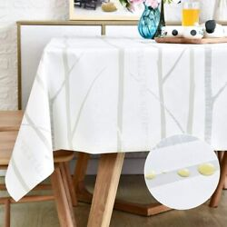 Square Vinyl Oilcloth Tablecloth Waterproof Wipeable Pvc Heavy Duty Plastic Part