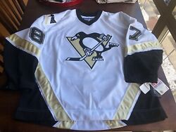New 100 Rare Andnbspauthentic Reebok Pittsburgh Penguins Sidney Crosby Jersey 56