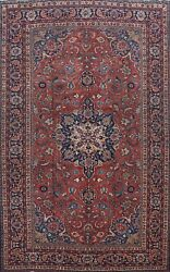 Antique Floral Vegetable Dye Bakhtiari Handmade Area Rug Oriental Carpet 9and039x13and039