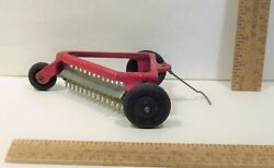Older Toy Rake - Side Delivery - Farm Equipment - Red Paint - 9813 Oliver