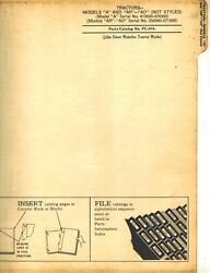 John Deere Vintage A, Ar And Ao Tractor Parts Manual Not Styled Pc-674