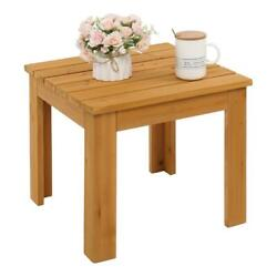 Wooden Square Side End Table Living Room Bedroom Furniture Coffee Stand Outdoor