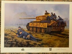 German Panther Tank Military Art Fight For Kowel And Warsaw 2 Prints Damaged