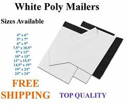 5-5000 White Poly Mailers Shipping Envelopes Self Sealing Plastic Mailing Bags
