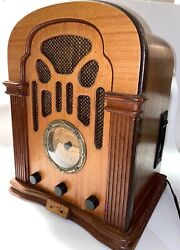 Thomas Radio Am Fm Antique Cathedral Style Cassette Player Model 411a Repro Old