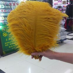 Gold Natural Ostrich Feather Plumes For Carnival And Wedding Decoration Ornaments