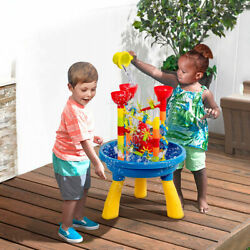 2 in 1 Sand and Water Table Activity Play Center Kids Splash Pond Beach Toy Set $39.49