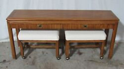 Modern Drexel By Passage Sofa Table Console With Benches