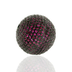 11.56ct Ruby Spacer Bead Ball Finding 925 Sterling Silver Jewelry Accessories