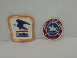 Vintage Us Mail And Post Office Dept Letter Carrier Lot Of 2 Patches New Usps