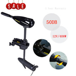 408w 40lbs Electric Brush Trolling Motor Outboard Engine Fishing Boat 40 Shaft