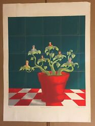 E. Salem Krieger Budding Lawyers Screenprint Signed And Numbered In Pencil