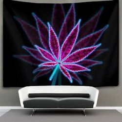 Weed Leaf Purple Wall Tapestry with Art Nature Home Decorations