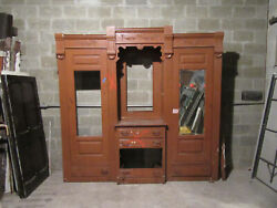 Antique Carved Walnut Closet Front Built In Armoire 97 X 94 Salvage