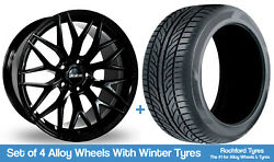 Alkatec Winter Alloy Wheels And Snow Tyres 19 For Ford C-max [mk1] 03-10