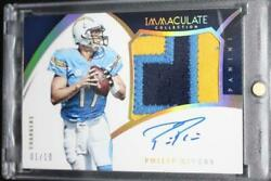 2015 Immaculate Philip Rivers 3-color Patch Auto Game Worn 1/10 1 On Card Pp-pr
