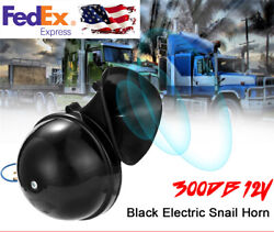 12V 300DB Black Electric Snail Horn Air Horn Loud For Car Motorcycle Truck Boat
