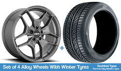 Rotiform Winter Alloy Wheels And Snow Tyres 19 For Vw Golf [mk5] 04-09