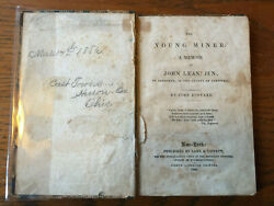 Rare 1848 And039the Young Miner A Memoir Of John Lean Junand039 By John Bustard