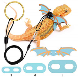 Bearded Dragon Leash and Harness Adjustable Leather Wings Costume Clothes from S