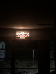 Coors Beer Signs Lighted