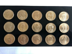 Us Coins, Presidential Dollar Coins Set Of 15