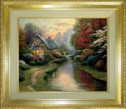 Thomas Kinkade A Quiet Evening 24x30 Publisher Proof Master Highlighted
