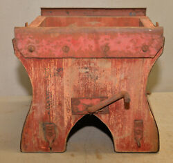 Antique Amish Grain Seed Diverter Bagger Early Farm Tool Collectible Display