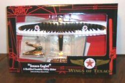 New 2002 Gold Wings Of Texaco Eaglet Utility Glider Airplane 10 In Series Mint