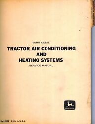 John Deere Vintage Tractor Cab Air And Heat Technical Manual Sm-2089 1971