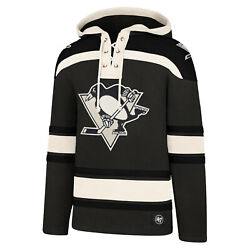 Nhl Hoody Pittsburgh Penguins Grey Hooded Pullover Lacer Jersey Hooded Sweater