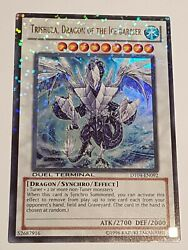 Trishula Dragon Of The Ice Barrier - Dt04-en092/m-nm /ultra Rare To Find Top