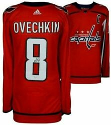 Alex Ovechkin Autographed Capitals Authentic Red Adidas Jersey Fanatics