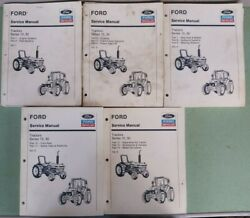 Ford Tractor Series 10, 30 Service Manuals Lot Of 5