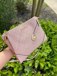 NWT MICHAEL KORS NICOLE LARGE TRIPLE COMPARTMENT CROSSBODY BAG BALLET PINK $109.99