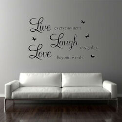 Wall Stickers Home Quote DIY Room Decals Live Laugh Art Love Family Removable