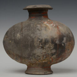Han Dynasty, Antique Chinese Pottery Cocoon Jar