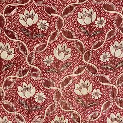 18th Century Textile Jouy En Josas Waterlilies Antique French Textile 1700and039s Old