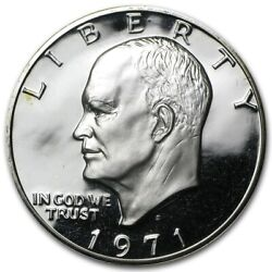 Roll 20 1971 S Proof Ike Eisenhower Dollar 40 Silver Choice Bu Condition