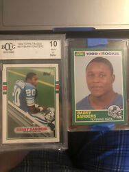 1989 Topps Traded Barry Sanders Detroit Lions 83t Graded 10 With Score Rc