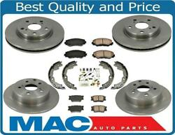 Fits 06-17 Rav4 Without 3rd Row Seat F And R Brake Disc Rotors Ceramic Brake Pads